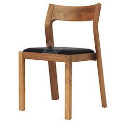 Contemporary Scandinavian Retro Style Teak Side Dining Chair