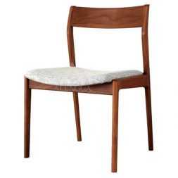 Contemporary Scandinavian Style Teak Side Dining Chair