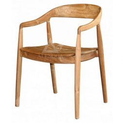 Contemporary Scandinavian Teak Arm Dining Chair