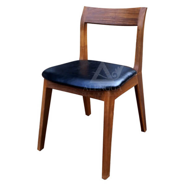 Minimalist Acacia Side Dining Chair