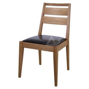 Contemporary Minimalist Teak Side Dining Chair