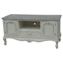 Mahogany Victorian Style Ivory 1 Drawer TV Cabinet