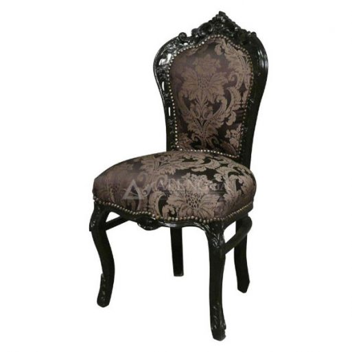 Mahogany French Style Beautiful Black Armless Dining Chair