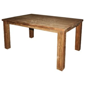 Reclaimed Teak Wood Modern Style Natural Teak Rectangle Dining Table