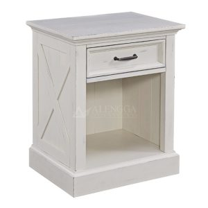Mahogany Modern Style Antique White One Drawer Nightstand Table
