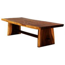Suar Slab Wood Modern Style Natural Pattern Solid Leg Dining Table