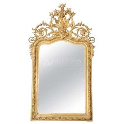 Mahogany Rococo Style Antique Gold Hand Carved Ornament Wall Mirror