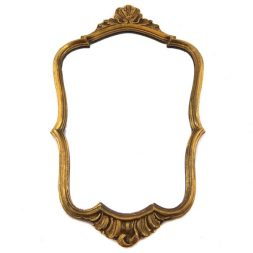 Mahogany French Style Gold Leaf Hand Carved Ornamented Wall Mirror