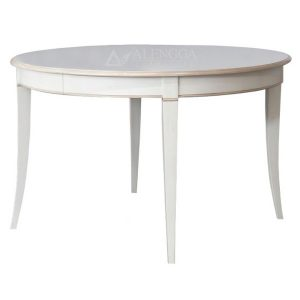 Mahogany French Style Antique White Beautiful Round Dining Table