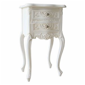Mahogany White Bedside Table