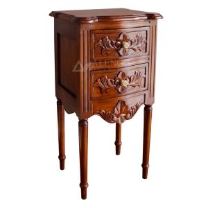 Mahogany Brown Bedside Table